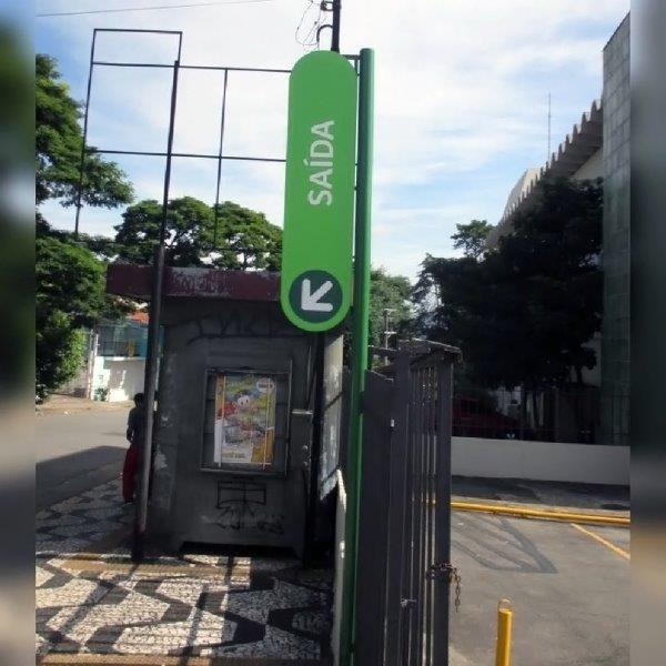 Comunicação visual placas de sinalização